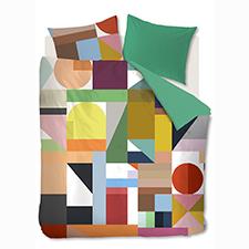 Auping Cubist Multi Katoen-Satijn Dekbedovertrek
