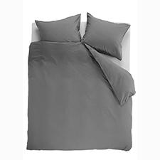 Beddinghouse Basic Grey Katoen Dekbedovertrek