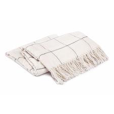 Damai Frame Wool White Lamswol-Polyamide Plaid