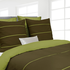 Heckett & Lane Jason Green Oasis Burnt Olive Percale-Katoen Dekbedovertrek