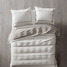 Heckett & Lane Jason Off White Bleached Sand Percale-Katoen Dekbedovertrek