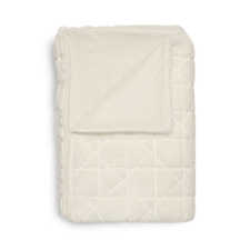 Heckett & Lane Natesa Off-White Acrylic-Polyester Plaid