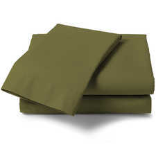 Heckett & Lane Perkal Burnt Olive Percale-Katoen Laken
