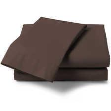 Heckett & Lane Perkal Chocolate Brown Percale-Katoen Laken