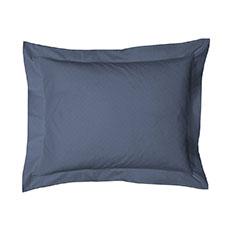 Heckett & Lane Puntini Steel Blue Katoen-Satijn Kussensloop
