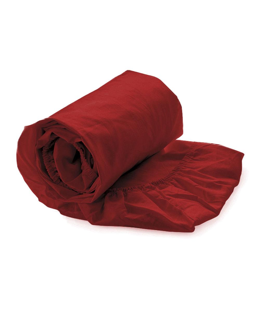 Heckett & Lane Satijn Aurora Red Katoen-Satijn Hoeslaken
