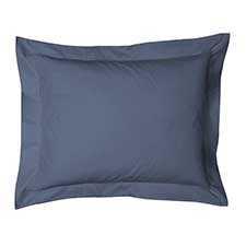 Heckett & Lane Satijn Steel Blue Katoen-Satijn Kussensloop