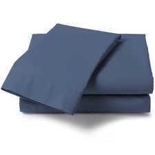 Heckett & Lane Satijn Steel Blue Katoen-Satijn Laken