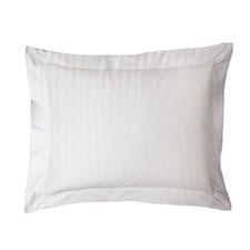 Heckett & Lane Stripe Off-White Katoen-Satijn Kussensloop