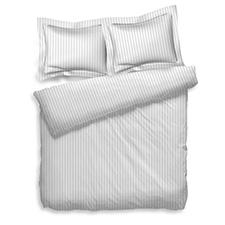Heckett & Lane Uni Stripe White Katoen-Satijn Dekbedovertrek