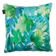 KAAT Amsterdam Tropical Plants Blauw Groen Katoen-Polyester Sierkussen